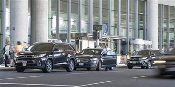 Photo of taxis outside Pearson
